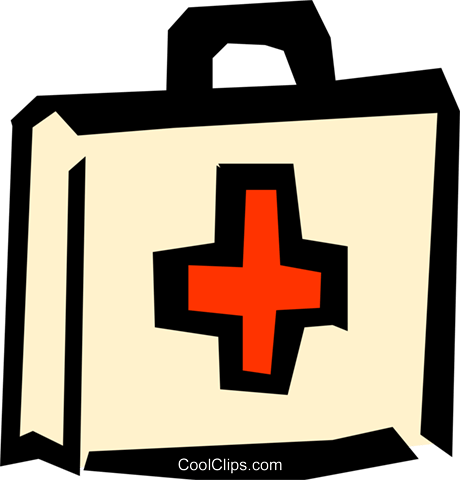 Medical first-aid kit Royalty Free Vector Clip Art illustration medi0236