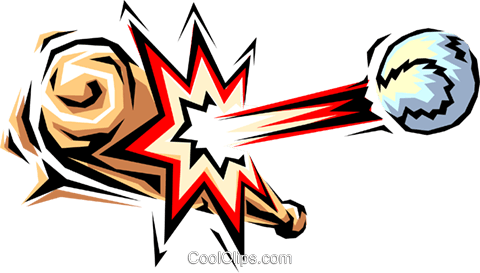 Baseball bat Royalty Free Vector Clip Art illustration spor0075