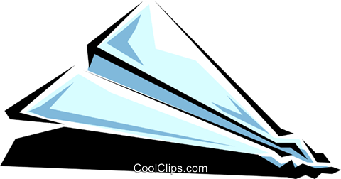 Paper airplanes Royalty Free Vector Clip Art illustration tran0291