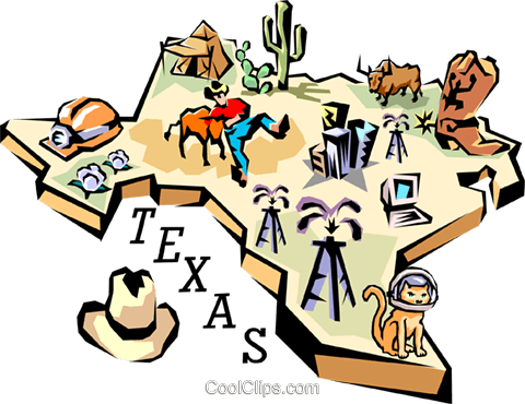 Texas vignette map Royalty Free Vector Clip Art illustration worl0119