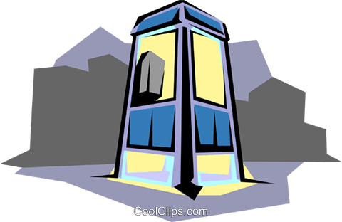 Phone booth Royalty Free Vector Clip Art illustration arch0164