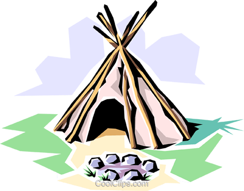 Indian teepee Royalty Free Vector Clip Art illustration arch0166