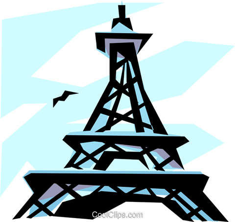 Eiffel Tower Royalty Free Vector Clip Art illustration arch0271
