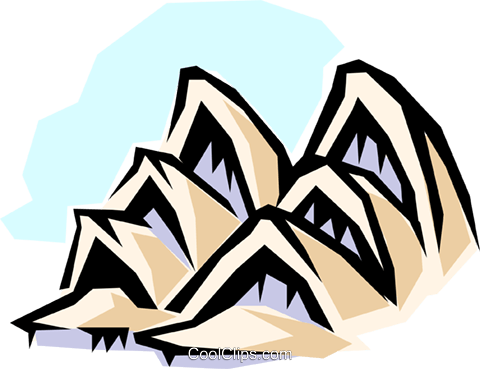Sydney Opera House Royalty Free Vector Clip Art illustration arch0272