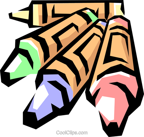 Crayons Royalty Free Vector Clip Art illustration arts0189