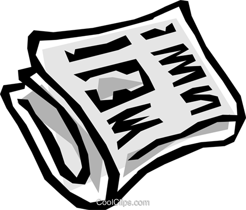 Newspaper Royalty Free Vector Clip Art illustration busi0539