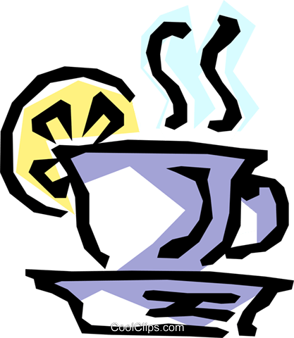 Hot tea Royalty Free Vector Clip Art illustration food0467