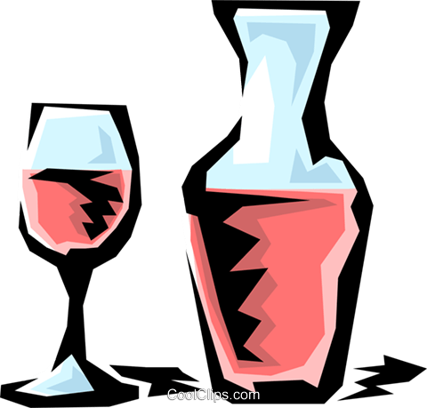 Carafe of wine Royalty Free Vector Clip Art illustration food0470