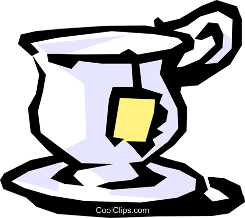 Teacup Royalty Free Vector Clip Art illustration food0474