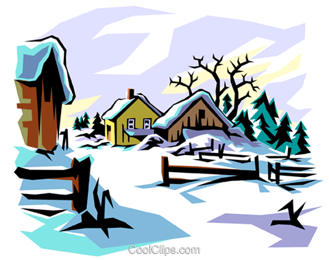 winter scene royalty free vector clip art illustration natu0007 rh search coolclips com free winter scene clipart images free winter scene clipart images