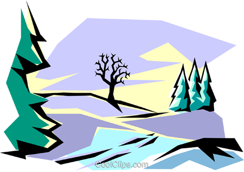 Winter scene Royalty Free Vector Clip Art illustration natu0018