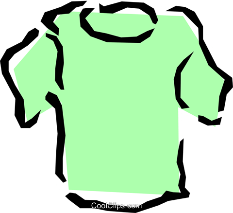 Tee shirt Royalty Free Vector Clip Art illustration hous0543