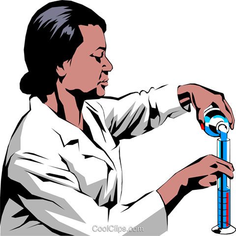 Woman scientist Royalty Free Vector Clip Art illustration peop0958