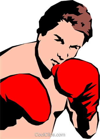 Boxer Royalty Free Vector Clip Art illustration peop0977