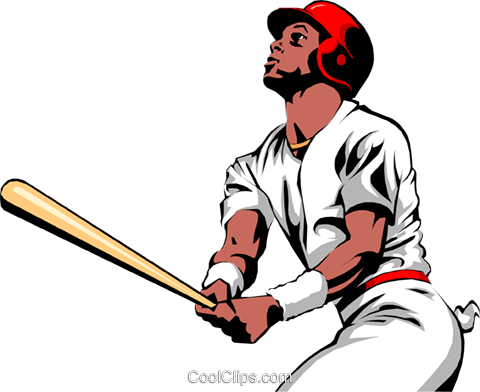Baseball batters Royalty Free Vector Clip Art illustration peop0996