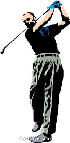 Golf Royalty Free Vector Clip Art illustration peop1010