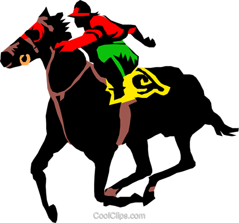 Horse race Royalty Free Vector Clip Art illustration peop1012