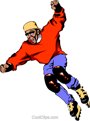 Roller blader Royalty Free Vector Clip Art illustration peop1014