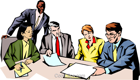 People meeting Royalty Free Vector Clip Art illustration peop1021