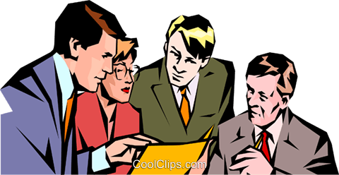 Men & women meeting Royalty Free Vector Clip Art illustration peop1026