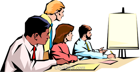 Men & women meeting Royalty Free Vector Clip Art illustration peop1027