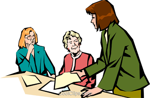 Women meeting Royalty Free Vector Clip Art illustration peop1035