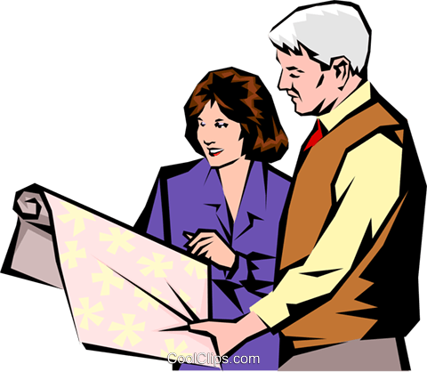 Man & woman meeting Royalty Free Vector Clip Art illustration peop1044