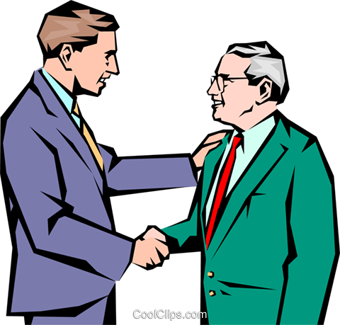Men meeting Royalty Free Vector Clip Art illustration peop1047