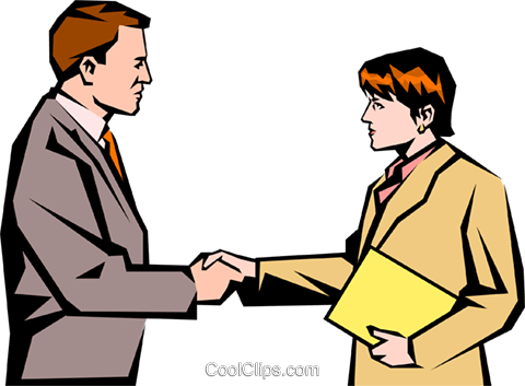 Man & women meeting Royalty Free Vector Clip Art illustration peop1048