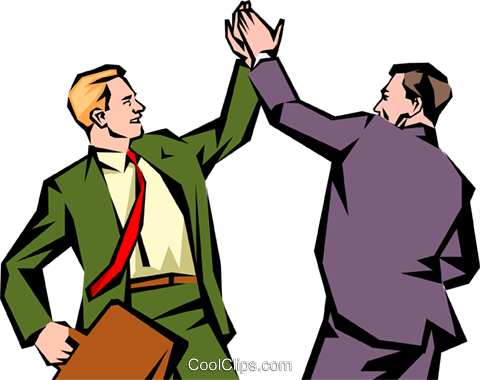 high five clipart. men giving each other a high-five royalty free vector clip art illustration high five clipart r