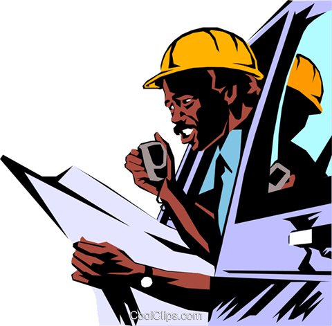 Construction foreman Royalty Free Vector Clip Art illustration peop1056