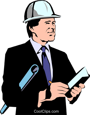 Construction architects Royalty Free Vector Clip Art illustration peop1057