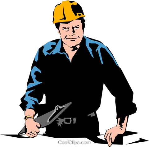 Construction foreman Royalty Free Vector Clip Art illustration peop1059