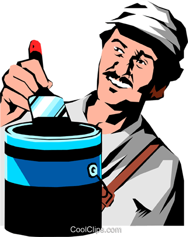 Man painting Royalty Free Vector Clip Art illustration peop1077
