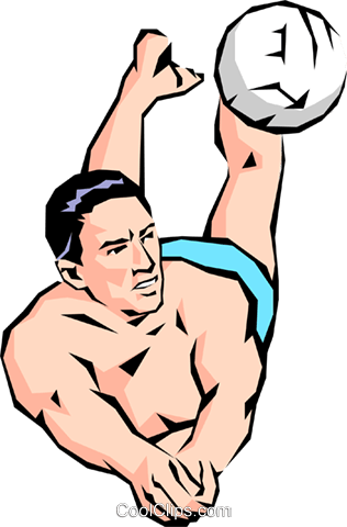 Volleyball player digging ball Royalty Free Vector Clip Art illustration peop1087