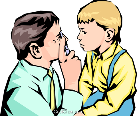 Doctor with young child Royalty Free Vector Clip Art illustration peop1103