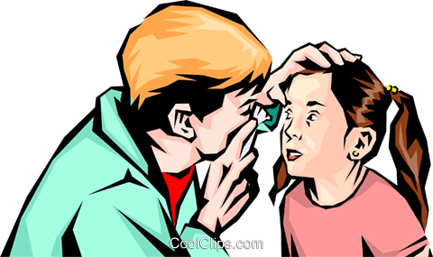 Doctor examining child Royalty Free Vector Clip Art illustration peop1112