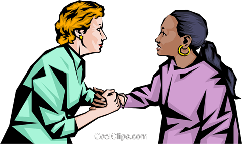 Nurse consoling woman Royalty Free Vector Clip Art illustration peop1122