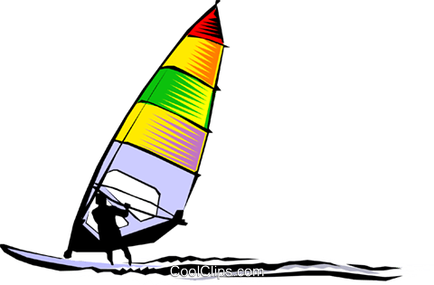 Windsurfer Royalty Free Vector Clip Art Illustration