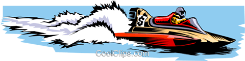 Speedboat Royalty Free Vector Clip Art illustration tran0336