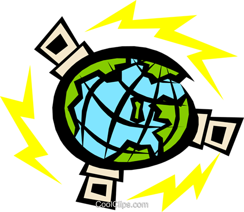 Satellites Royalty Free Vector Clip Art illustration busi0666