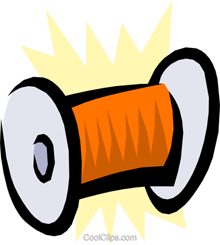 Spool of thread Royalty Free Vector Clip Art illustration hous0716