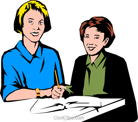 Teacher & student Royalty Free Vector Clip Art illustration peop0766
