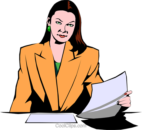 Businesswoman Royalty Free Vector Clip Art illustration peop0780