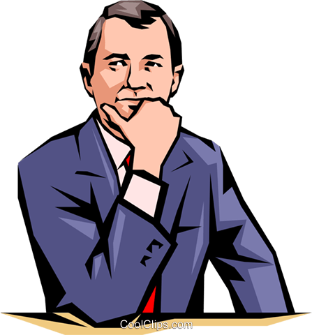 Businessman Royalty Free Vector Clip Art illustration peop0829