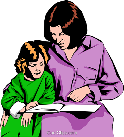 Mother & daughter Royalty Free Vector Clip Art illustration peop0840