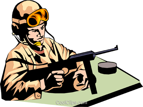 Military man Royalty Free Vector Clip Art illustration peop0860