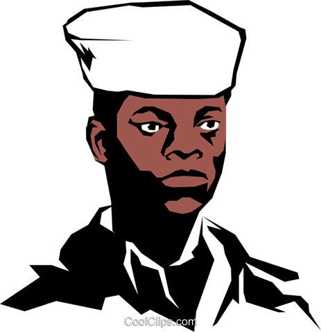 Military man Royalty Free Vector Clip Art illustration peop0862