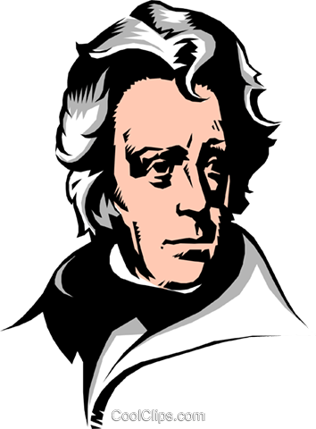 Andrew Jackson Royalty Free Vector Clip Art illustration peop0865