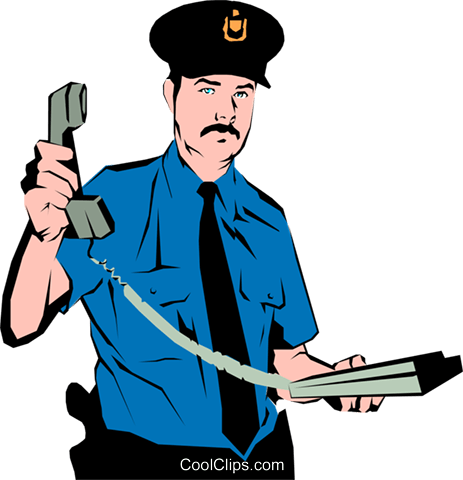 Policeman Royalty Free Vector Clip Art illustration peop0871
